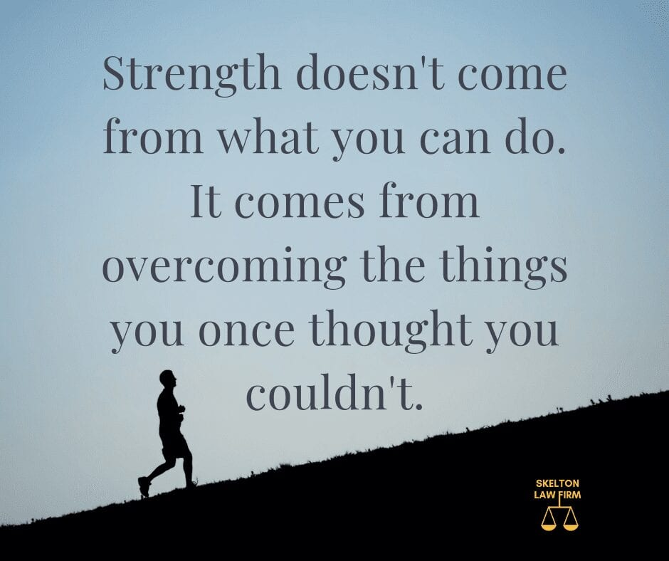 Overcoming the things you once thought you couldn't.